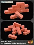 ACI - Red bricks (10 pieces) for diorama in scale 1: 6