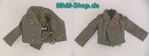 DiD Peter Greim / tank jacket in field gray with east medal ribbon in scale 1: 6