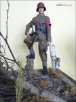 Sturmfuhrer, SA Recruiting Team, Brigade 57, group Niedersachsen, Austria in 1944 at a scale of 1: 6