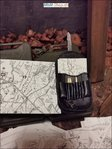 German map pocket in black with 6 combat maps and pens in the scale 1: 6