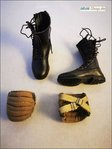 DiD WWII German Fallschirmjäger –Max Schmeling / German paratrooper boot set on a scale of 1: 6